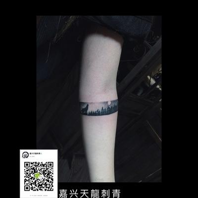 遮盖字体森林纹身